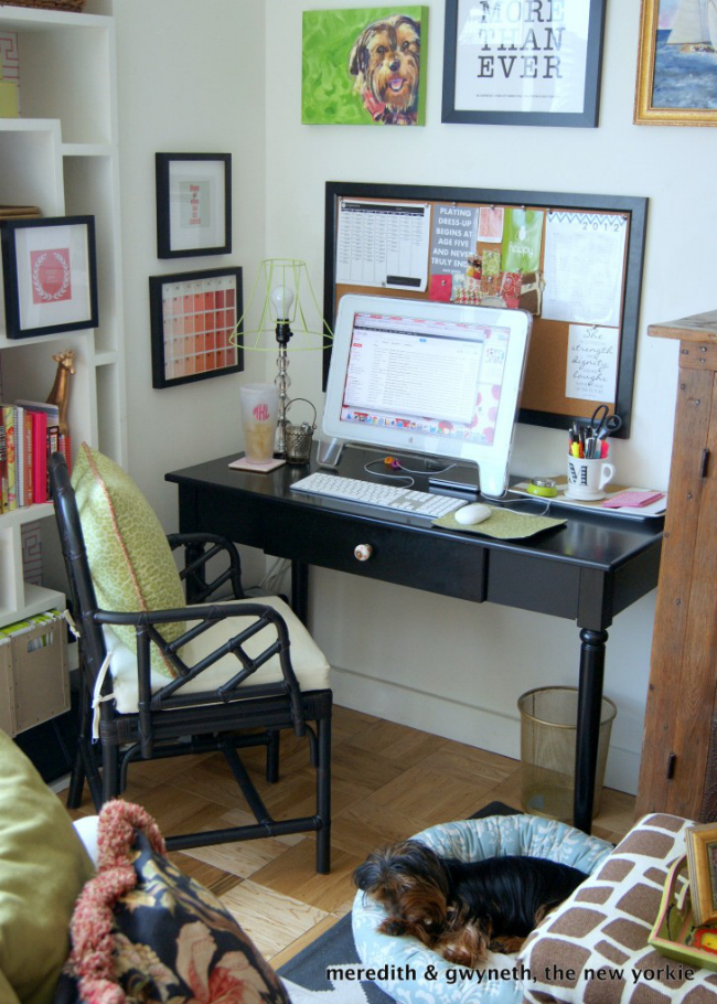 Home Office and DIY Wire Lampshade