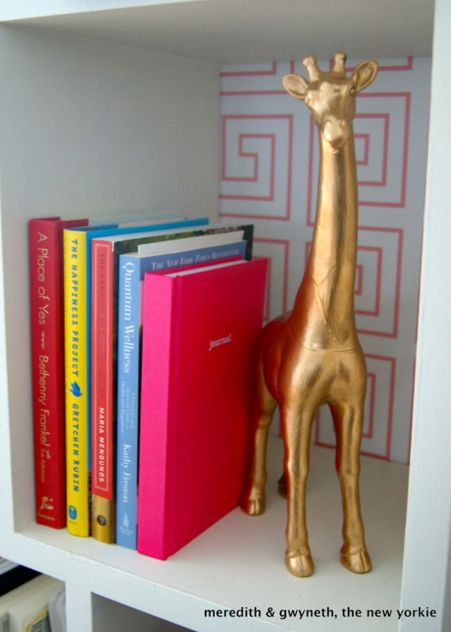 Home Office Bookcase DIY Brass Figurines