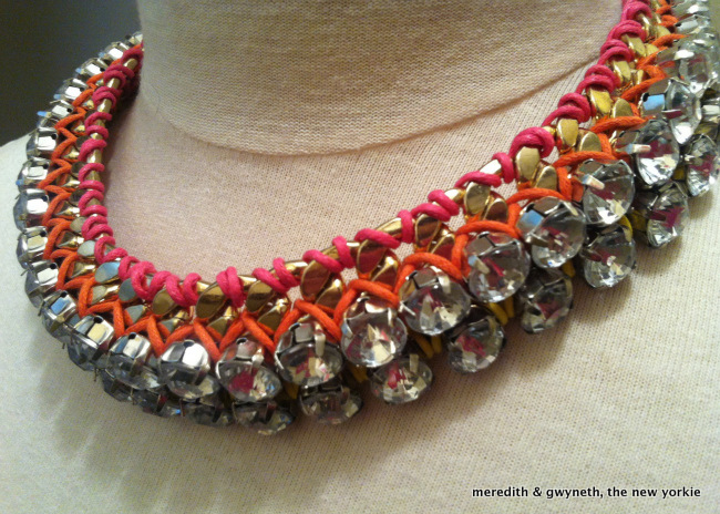 DIY Rhinestone and Chain Statement Necklace_Step 7