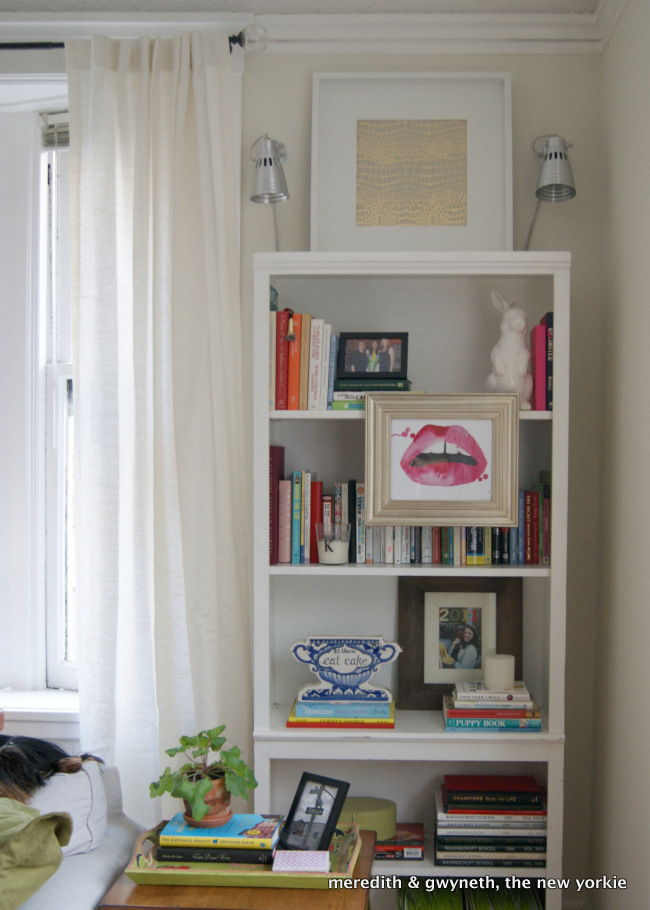Living Room Bookcase Styling